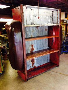Full truck bed shelving units. All have under shelf lighting and wood shelves…