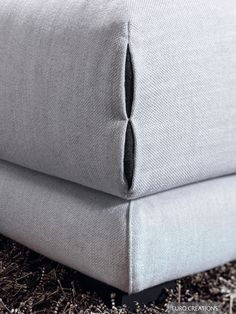 #Natuzzi Erasmo Sofa - Finishing Detail - fabric -  available at #EuroCreations, Thailand