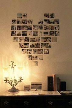 Colagem de fotos - coração