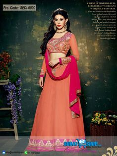 An Superb Tomato Faux Georgette Salwar Kameez Will Make You Look Too Stylish And Graceful. This Appealing Attire Is Displaying Some Unbelievable Embroidery Done With Lace, Resham, Stones Work. Paired With A Matching Bottom Comes With A Contrast Pink Chiffon Dupatta  Visit: http://surateshop.com/product-details.php?cid=2_27_43&pid=8309&mid=0