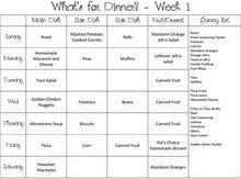 Smith Fam Six-Week Meal Plan