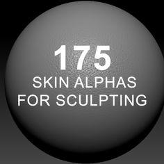 ArtStation - Skin alphas for sculpting, Jeremy Celeste