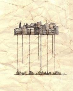"""Lisa Chow - """"Baucis"""". A city of stilts and ladders"""