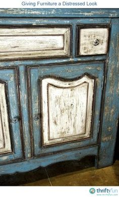 This is a guide about giving furniture a distressed look. Distressing newer furniture gives it an older look that might be just want you need to complete your decor.