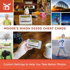 Custom settings to help you take better photos with your Nikon D5300 for a variety of subjects and scenes!