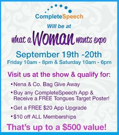 #CompleteSpeech hopes to see ya there!