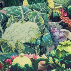Kaffe Fassett's Cauliflower and Cabbage were his first vegetable designs and they started a craze. Shop for yours here:http://bit.ly/2zalp38