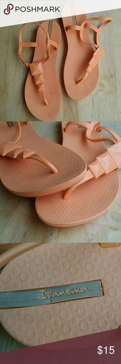 Ipanema sandals Peach color sandals, size 10, in great preowned condition. Ipanema Shoes Sandals