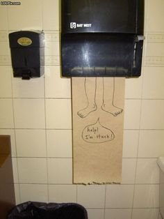 Stuck in the paper towel holder. I must do this at next opportunity...