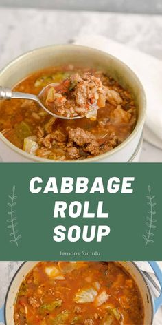 Cabbage roll soup is a great addition to your family's meal plans! It is hearty, filling and totally delicious! You won't find anything but comfort and good ingredients in this soup!