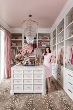 Dressing Room Closet, Dressing Room Design, Closet Bedroom, Bedroom Decor, Glam Closet, Pink Closet, Closet Dresser, Dressing Rooms, Glam Room