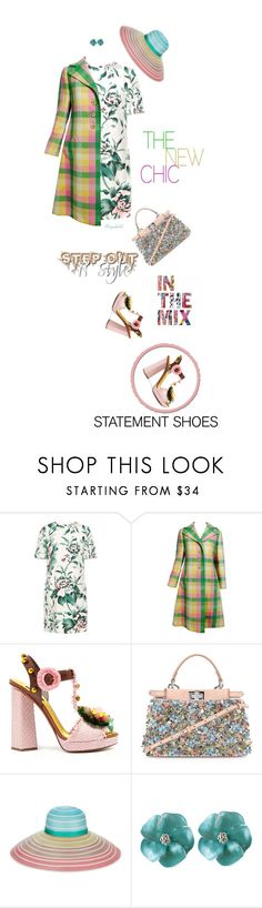 """""""Statments Shoes! Plaid Coat! Top Fashion Set, March 22nd😀"""" by ragnh-mjos ❤ liked on Polyvore featuring Burberry, Bill Blass, Dolce&Gabbana, Fendi and Missoni"""