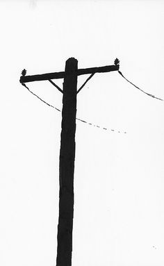 Pix For > Telephone Pole Sketch