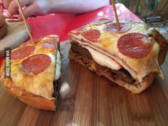 A Pizza-Burger. My life is now complete.