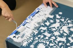 Learn how to personalize a $35 Ikea RAST using our Otomi Craft Stencil and Benjamin Moore paint. http://www.cuttingedgestencils.com/otomi-pattern-craft-stencil-DIY-home-decor-project.html