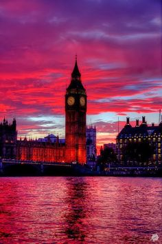 Reddest sunset in London