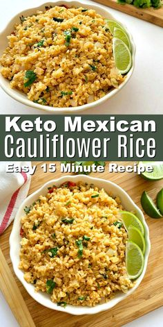 Mexican food recipes 69313281754817518 - Keto Mexican Cauliflower Rice – All the flavors of a Mexican Rice recipe minus the carbs! Serve this flavorful 15 minute Mexican rice recipe with tacos or for Cinco de mayo! Source by stylishcravings Best Keto Meals, Keto Recipes, Cooking Recipes, Healthy Recipes, Cooking Tips, Mexican Rice Recipes, Rice Recipes For Dinner, Mexican Desserts, Cauliflower Recipes