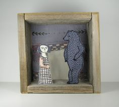 Embroidered Diorama Etsy $300