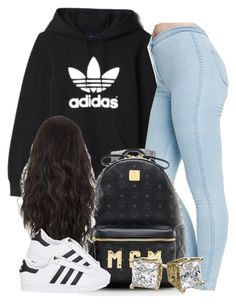 """."" by trillest-queen ❤ liked on Polyvore featuring adidas, American Apparel, MCM and adidas Originals"