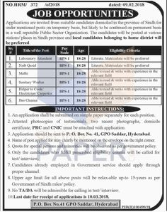 Public Sector Organization Hyderabad Jobs 2018 #LatestjobsinPakistan #OnlineJobs #Applyonline #JobsinPakistan