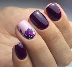 Stylish Nail Art Design & Images Easy to do at Your Home - Naildesign Fullcover . - Stylish Nail Art Design & Images Easy to do at Your Home – Naildesign Fullcover – - Stylish Nails, Trendy Nails, Spring Nails, Winter Nails, Summer Nails, Purple Nail Art, Purple Glitter, Purple Nails With Design, Nail Art Designs Images
