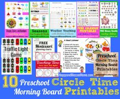 10 Preschool Circle Time Morning Board Printables HappyandBlessedHome.com