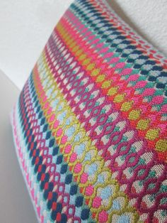 Alpenglow Cobalt colorful pink teal citron by chicdecorpillows