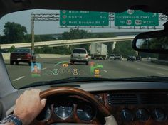 Windshield of the future will interact with the outside