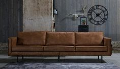 beautiful affordable leather sofa living room cognac color - Home Decor Ideas Small Space Interior Design, Interior Design Living Room, Living Room Sofa, Living Room Decor, Front Rooms, Home And Living, Decorating Your Home, Family Room, Bank Cognac