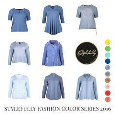 Mit sanfter, angenehmer Kühle begeistert Serenity. Gemeinsam mit Rose Quartz erhielt dieses Baby-Blau die Auszeichnung zur Farbe des Jahres 2016 und das nicht zu Unrecht.   #Serenity #Plussize #Curves #GrosseGroessen #Fashion #Stylefully