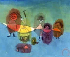 Small Children, Germany, 1929, by Paul Klee.