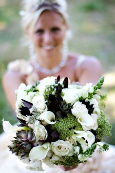 calla lilies and succulent wedding bouquet  flowers by Sophisticated Floral Designs. Portland, OR  photo by HF photography http://sophisticatedfloral.com/