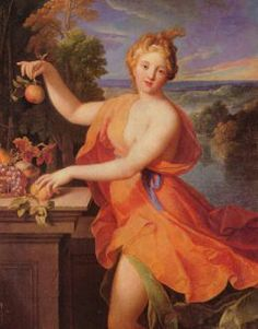 """""""Pomona"""" by Nicolas Fouché, c. 1700 ***Pomona Latin: Pōmōna) was a goddess of fruitful abundance in ancient Roman religion and myth. Her name comes from the Latin word pomum, """"fruit,"""" specifically orchard fruit. She was said to be a wood nymph. Image Fruit, Halloween History, Image Nature Fleurs, Wood Nymphs, Roman Gods, Autumnal Equinox, Images Vintage, Roman Mythology, Goddesses"""