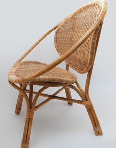 Woven rattan ring chair by Mitsein, made in Vietnam