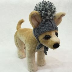 Handmade-Knit-Clothes-Pompom-Hat-with-Ties-for-Dogs-Pets-Size-XXS-XS-S