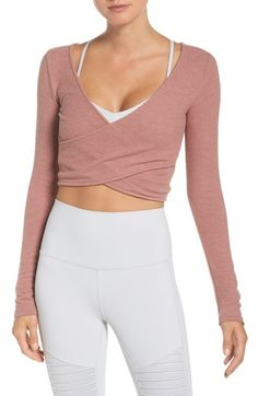 d23371f567f Alo Amelia Luxe Crop Top | Nordstrom. Workout AttireWorkout WearWorkout  OutfitsWorkout StyleWorkout ClothingYoga TopsYoga FashionFitness ...