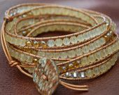 wrap bracelets...@Kristi Peavy can you make these with shiny beads? #christmas