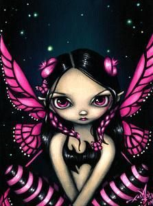 Pink Butterfly Fairy - Strangeling: The Art of Jasmine Becket-Griffith Butterfly Fairy, Pink Butterfly, Butterflies, Dragons, Dibujos Pin Up, Fairy Pictures, Magical Pictures, Cute Fairy, Eye Art