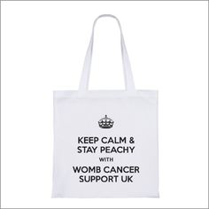 White cotton bag with long handles. Printed in black on one side. £2 each plus p+p (£1 for up to 2 bags and £3 for 3 or more bags..  Please message me if you would like one. All proceeds go back into raising awareness.