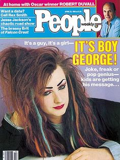 photo   1980, 80s Music, Hairdos, Boy George Cover, Musical Hitmakers, Boy George, Robert Duvall