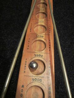 vintage toy pinball games space themed | ... Moon Vintage Marble Game Atomic Age Space Toy 1959 Wood Rocket Ship