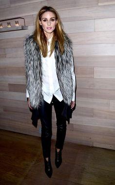 Olivia Palermo wearing monochrome