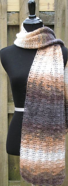 Crocheted Variegated Lace Scarf on Etsy, $75.00 #Women #Accessories #Scarf #Crochet #Classy #Dressy #Fancy #Pretty #Neck #Mohair #Lace #Cream #Violet #BlackFriday #CyberMonday #Sale #Thanksgiving #WinterIsComing #Unique #Christmas #Gift #ooak #oneofakind #fashion #lastminutegift #giftforher