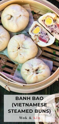Vietnamese Pork, Vietnamese Recipes, Asian Recipes, Pork Recipes, Asian Foods, Steamed Pork Buns, Sausage And Egg, English Food, Perfect Breakfast
