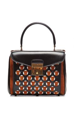 Shop Mini Metropolitan Leather and Suede Perforated Bag by Marc Jacobs Now Available on Moda Operandi