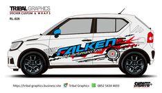 Sticker Mobil Sorong, Suzuki Ignis Sticker Design. TRIBAL GRAPHICS jln. Trikora,Transad,Aimas Kab.Sorong Papua Barat Call/SMS/WA (0852-5434-4693)  #TribalGraphics #CuttingSticker #3DCuttingSticker #Decals #Vinyls  #Stripping #StickerMobil #StickerMotor #StickerTruck #Wraps  #AcrilycSign #NeonBoxAcrilyc #ModifikasiMobil #ModifikasiMotor #StickerModifikasi  #Transad #Aimas #KabSorong #PapuaBarat Custom Wraps, Design Portfolios, Portfolio Design, Sticker Design, Graphic Design, Stickers, Portfolio Design Layouts, Visual Communication, Decals