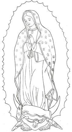 Imágenes De La Virgen De Guadalupe Para Colorear Coloreando