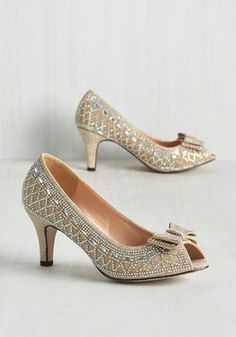 All That Dazzle Heel in Champagne