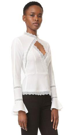 Nicholas N/Nicholas Lace Insert Top |  Moda para mujeres