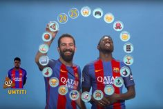 Turan And Umtiti Keep It 100 When Assigning Each #Barca Player An Emoji. #Turan #Umtiti #soccerplayers #barcelona #fcbarca #fcbarcelona #funnysoccer #lolsoccer